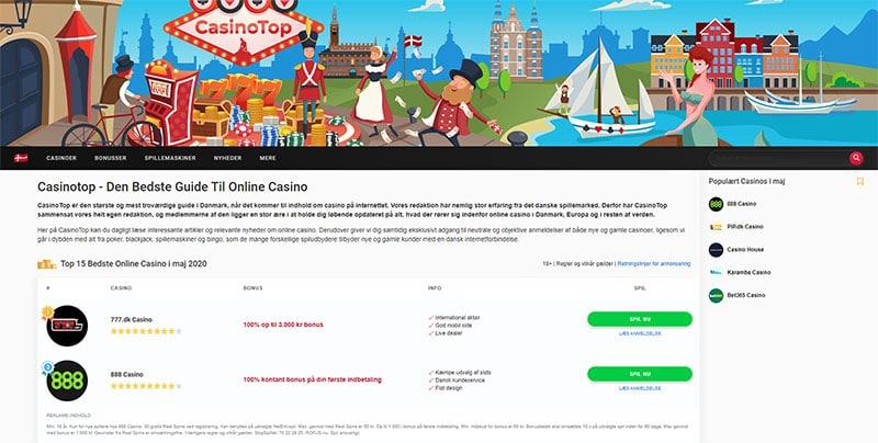 CasinoTop Danmark Screenshot
