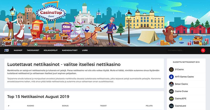 CasinoTop Suomi Screenshot