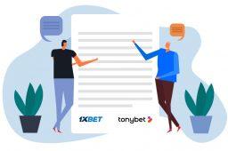 1xBet Group selger sitt britiske varemerke til TonyBet