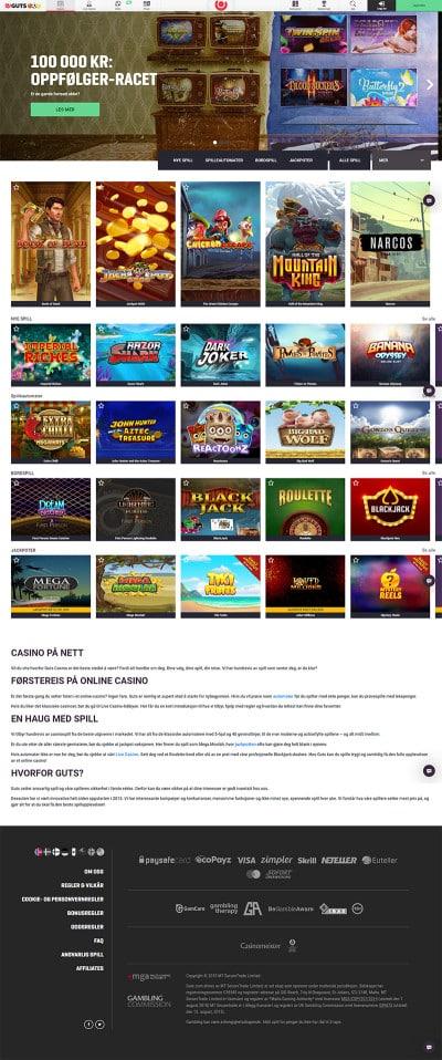 Guts Casino Screenshot