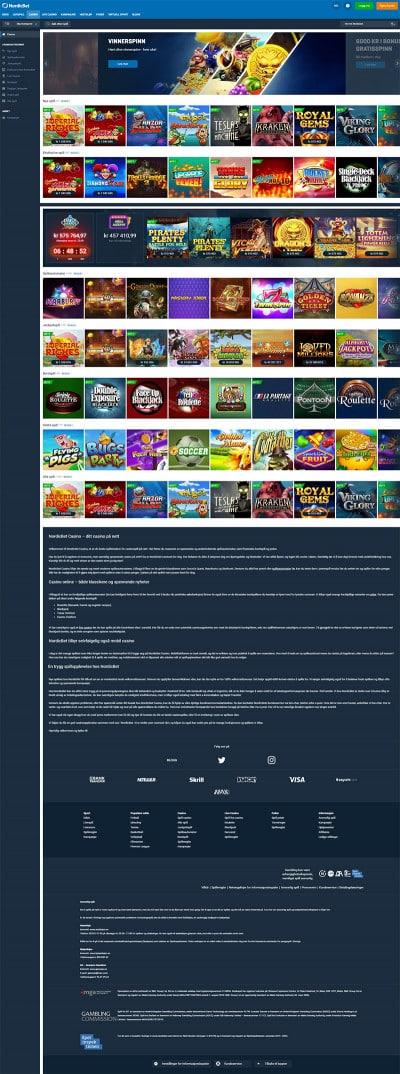 Nordicbet Casino Screenshot