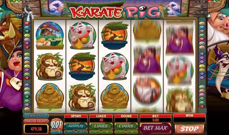 Karate Pig Logo