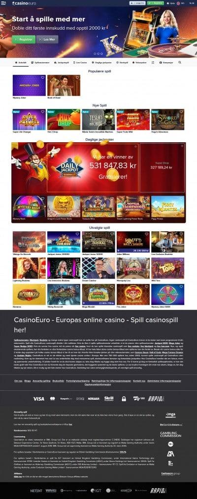 Casino Euro Screenshot