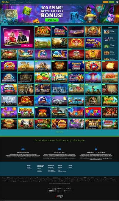 Extraspel Casino Screenshot