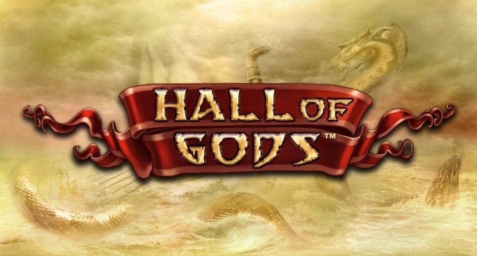 Bilde av Hall Of Gods spilleautomat, spill fra Net Entertainment og kan spilles på ulike casinoer