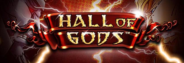 Bilde av spilleautomater Hall Of Gods som er produsert av NetEnt og kan spilles på ulike casinoer