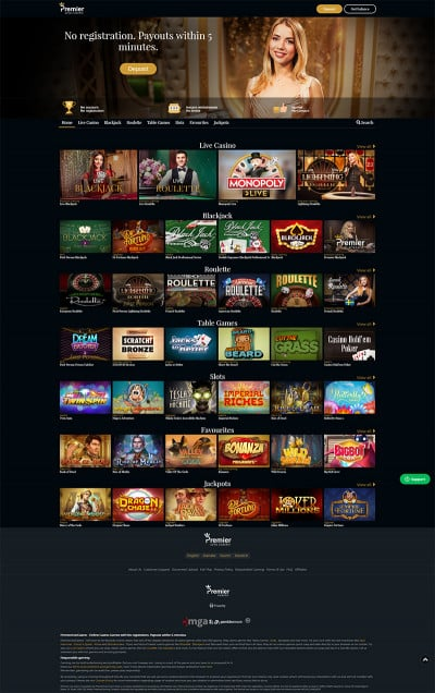 Premier Live Casino Screenshot