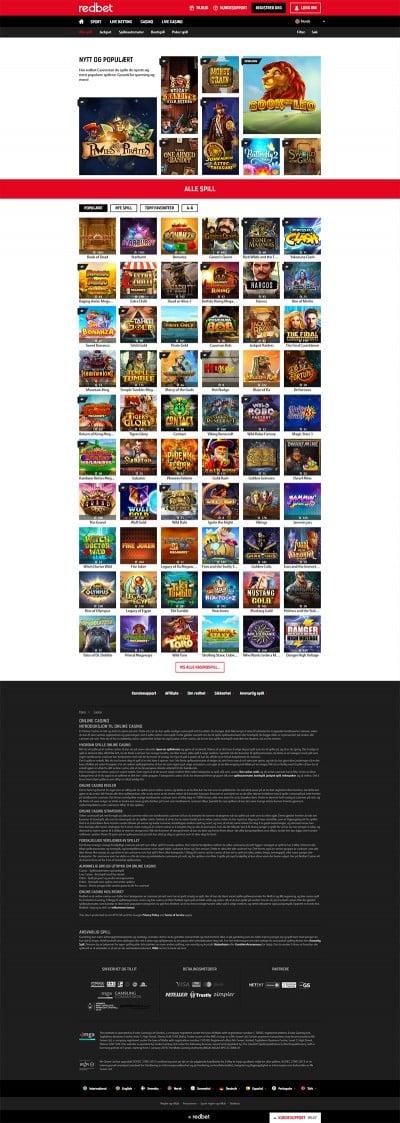 Redbet Casino Screenshot