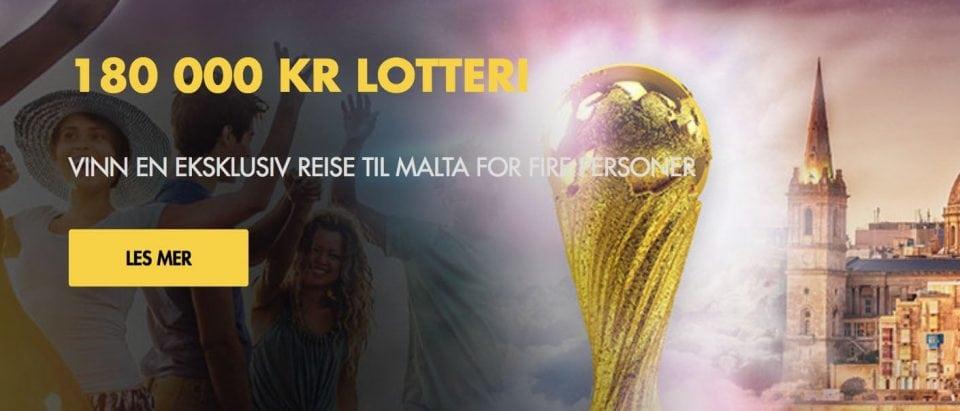 Bethard 180000 kr Lotteri - Banner
