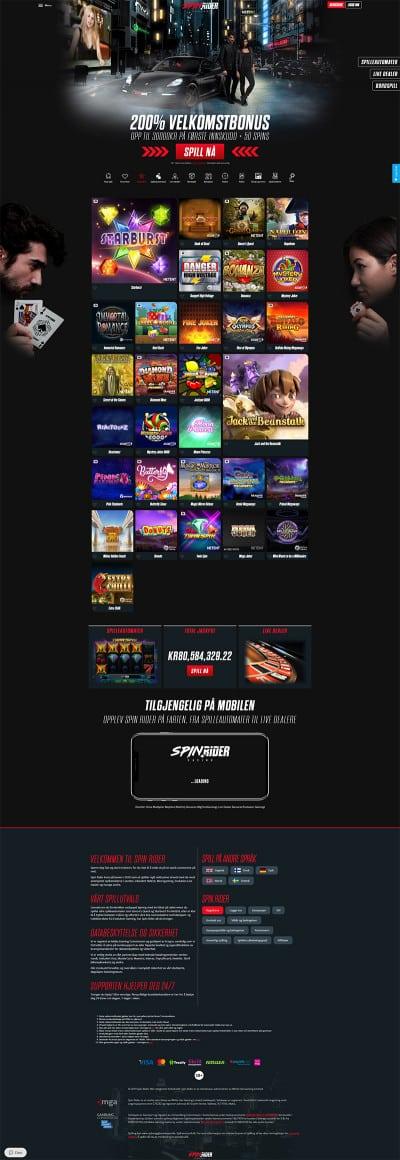 Spin Rider Casino Screenshot