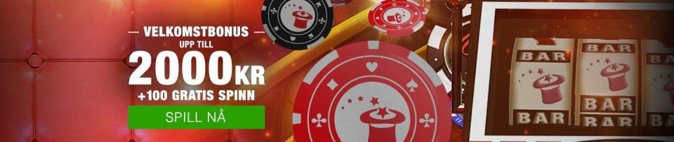 Eksklusivt velkomsttilbud hos Magic Red Casino