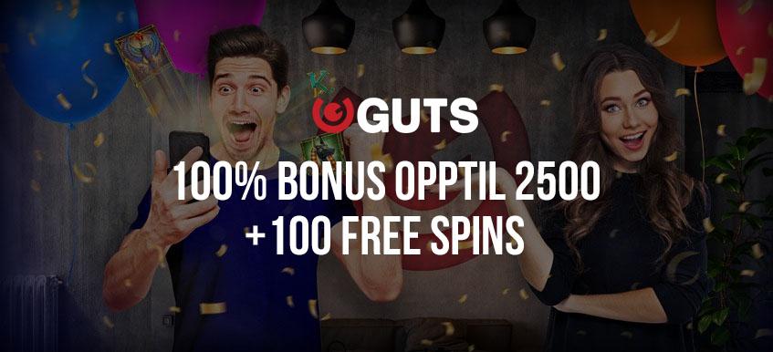Ny velkomstbonus hos Guts Casino