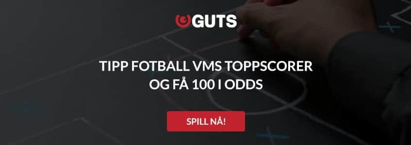 Tipp fotball VMs toppscorer og få 100 i odds