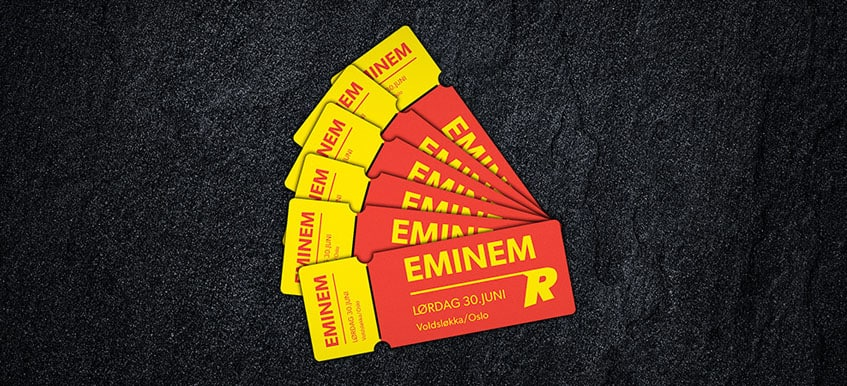 Vinn billetter til Eminem i Oslo hos Rizk Casino