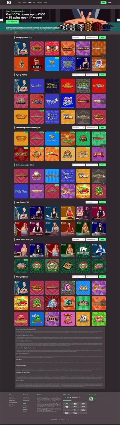 10Bet Casino kuvakaappaus