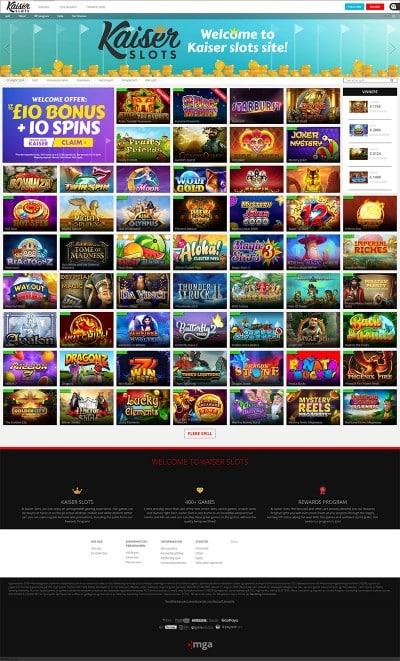 KaiserSlots Casino Screenshot