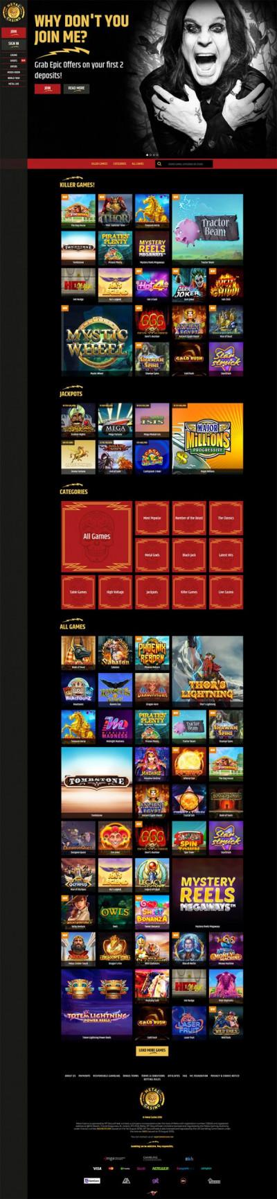 Metal Casino Screenshot