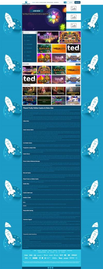 Planet Fruity Casino Screenshot