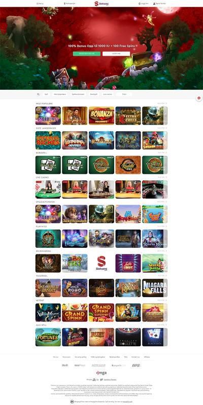 Slotsons Casino Screenshot