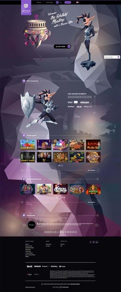 Untold Casino Screenshot