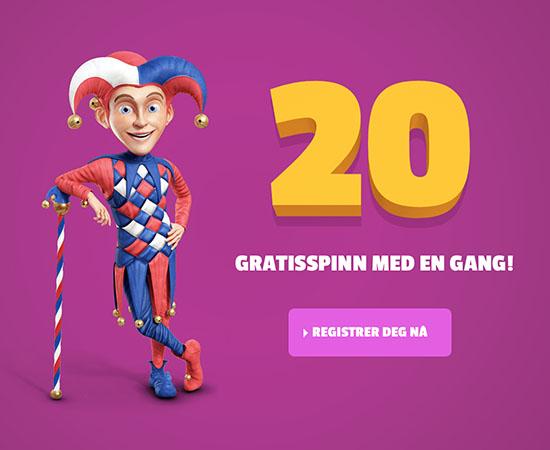 Olaspill 20 gratis free spins | Casinotopp