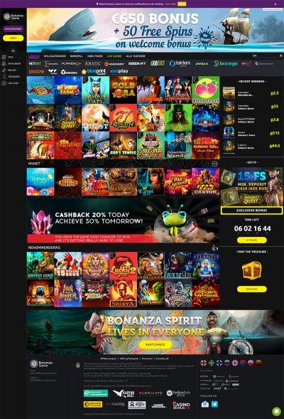 BonanzaGame Casino Screenshot