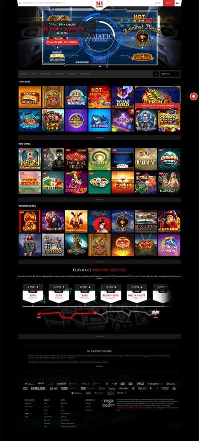 N1 Casino Screenshot