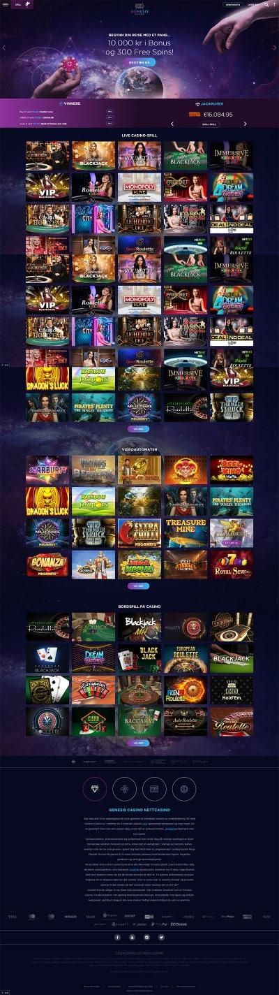Genesis Casino kuvakaappaus