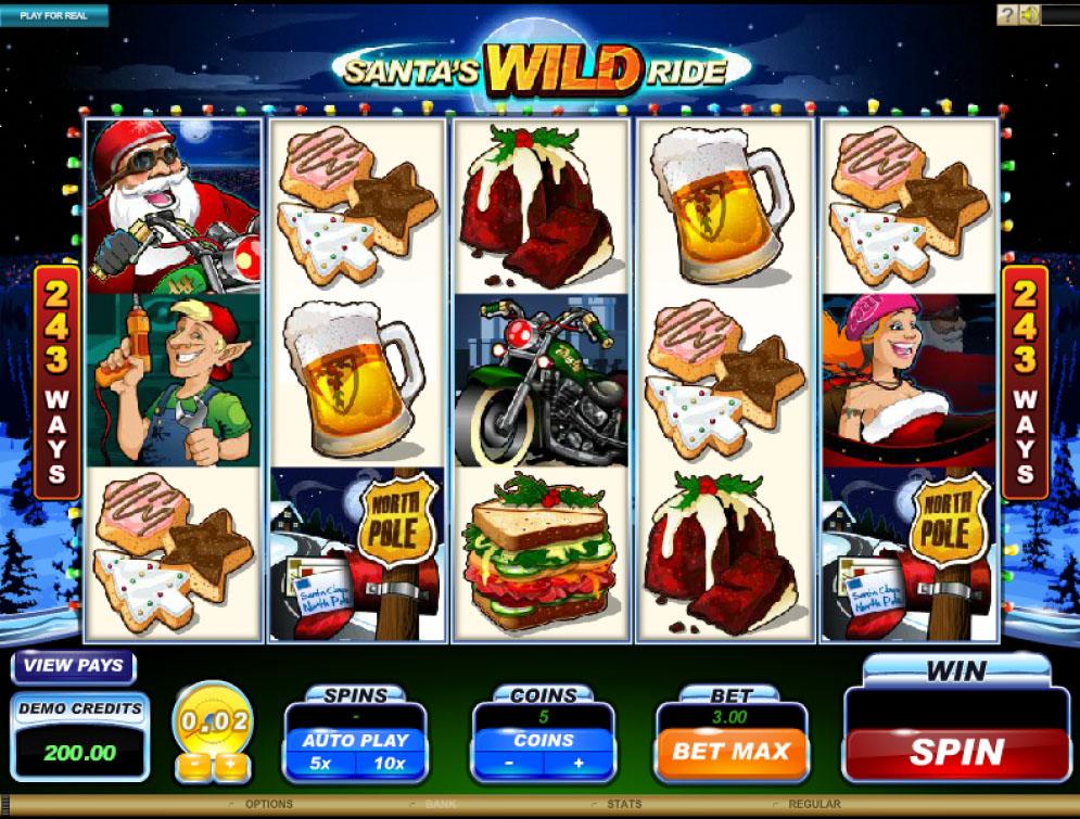 Santa's Wild Ride Slot | CasinoTopp