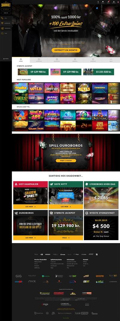 ShadowBet Casino Screenshot