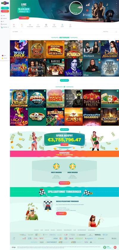 Spinia Casino Screenshot