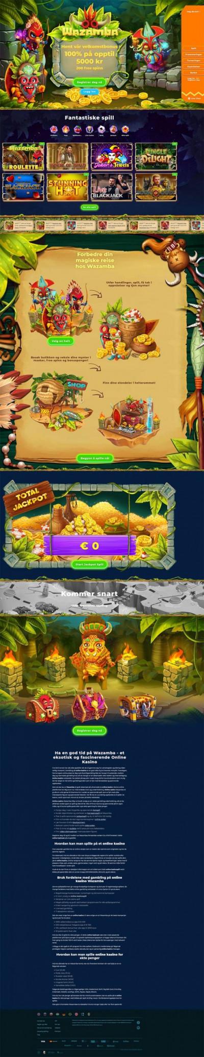 Wazamba Casino Screenshot