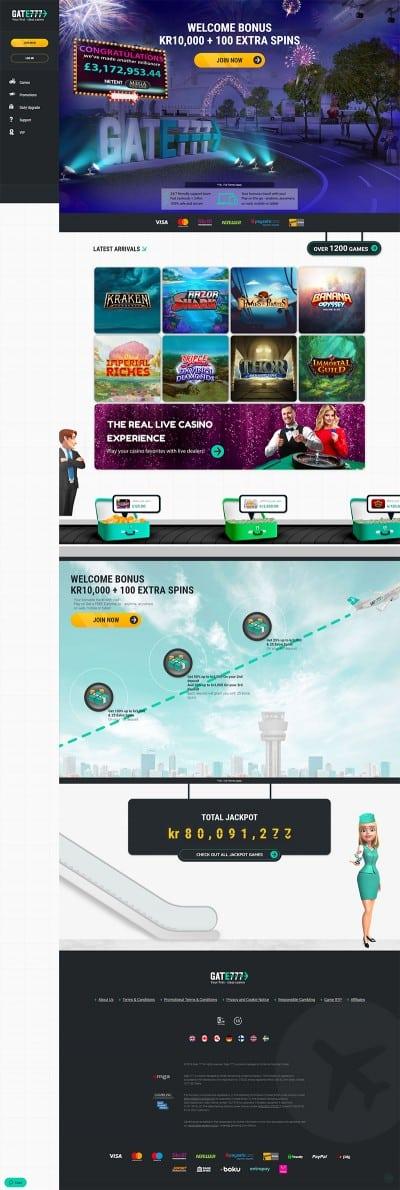 Gate 777 Casino Screenshot
