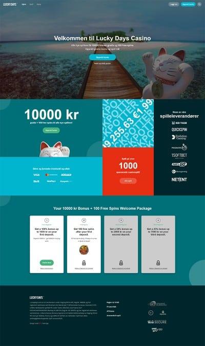 LuckyDays Casino Screenshot