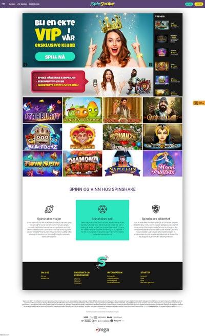 SpinShake Casino Screenshot