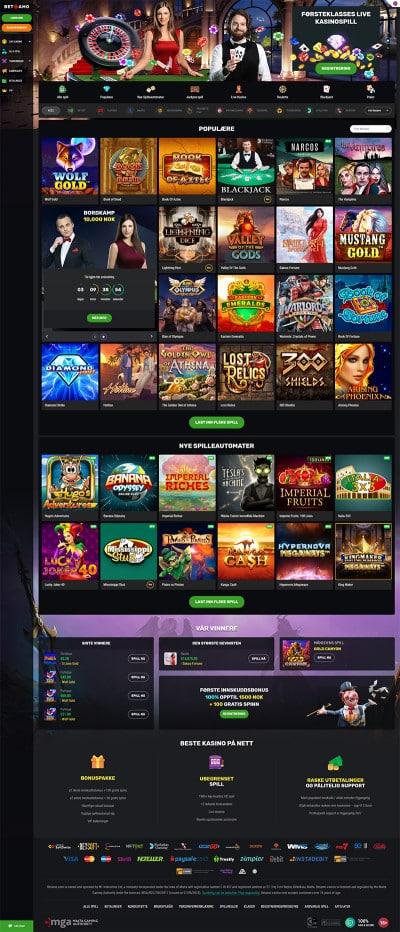 Betamo Casino Screenshot