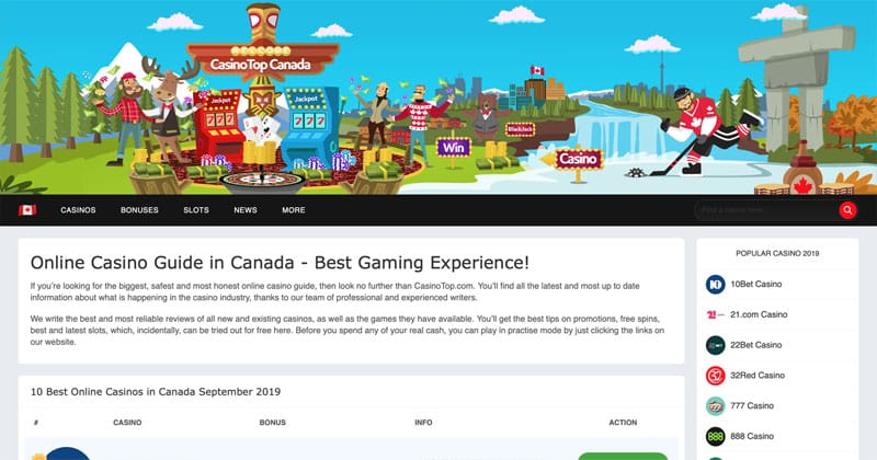 CasinoTop Canada Screenshot