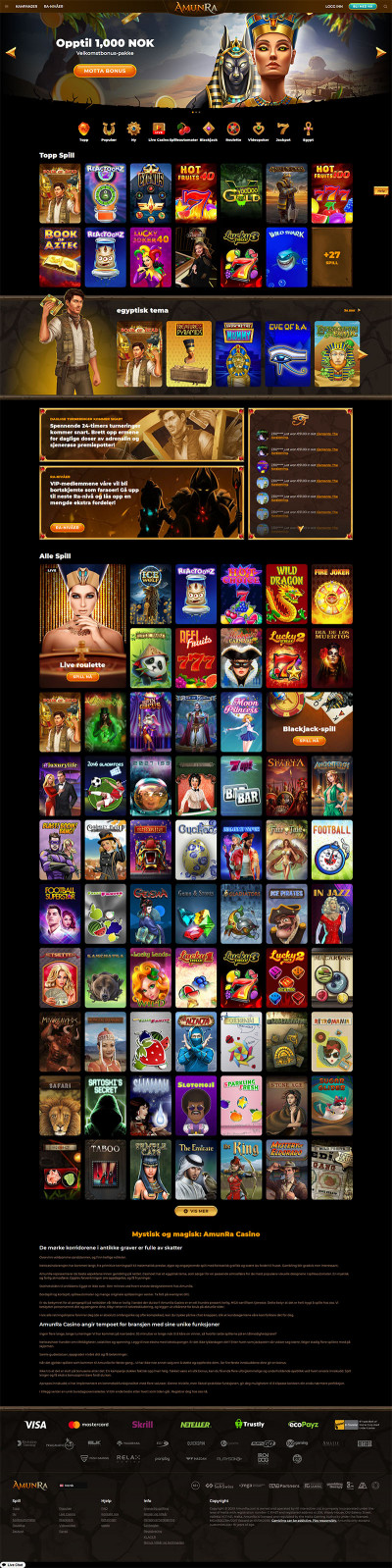 AmunRa Casino Screenshot