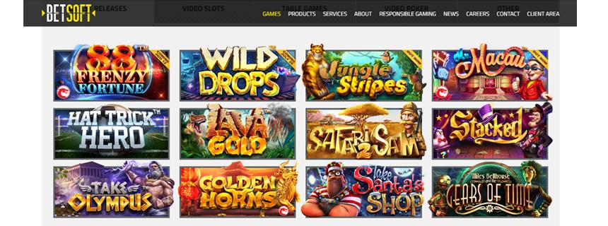 BetSoft Spillutvalg - CasinoTopp