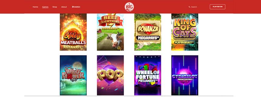 Big Time Gaming Spillutvalg - CasinoTopp