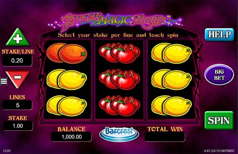 Black Magic Fruits Slot Screenshot - CasinoTopp