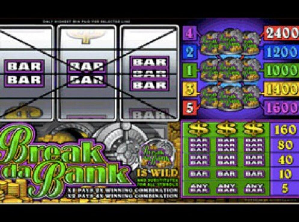 Break Da Bank Slot Images - CasinoTopp
