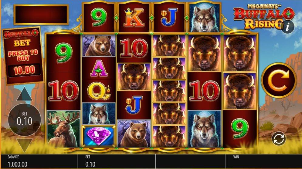 Buffalo Rising Megaways Slot Images - CasinoTopp