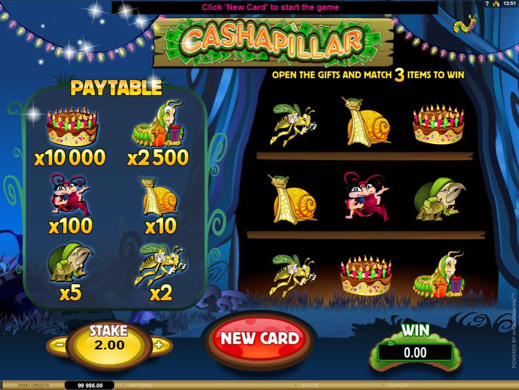 Cashapillar Skrapelodd Slot Images - CasinoTopp