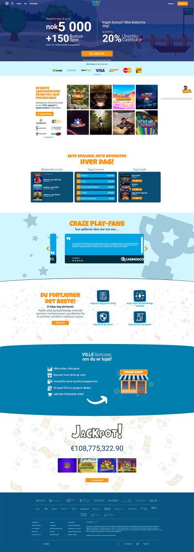 CrazePlay Casino Screenshot