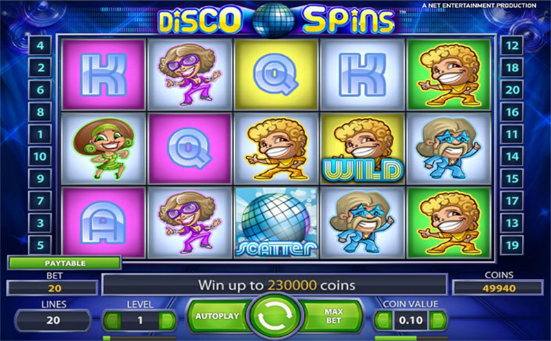 Disco Spins Slot Images - CasinoTopp