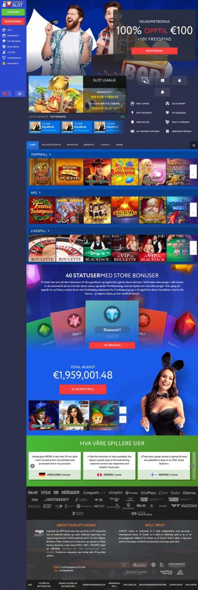 EUSlot Casino Screenshot