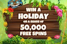 En gratis ferie eller 50 000 ekstra spinn venter hos Pocketwin Casino