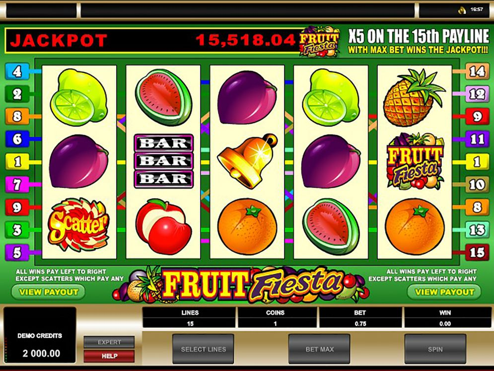Fruit Fiesta 5 Reel Slot Images - CasinoTopp