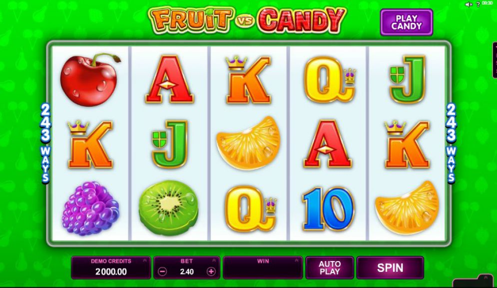 Fruit vs Candy Slot Images CasinoTopp